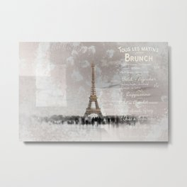 PARIS Collage Metal Print