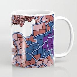 Wandering Abstract Line Art 40: Purple Coffee Mug