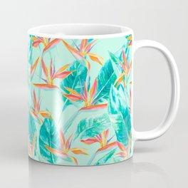 Birds Of Paradise Mint Coffee Mug
