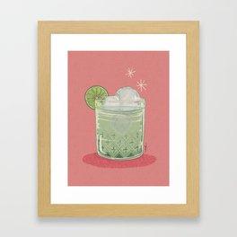 LEMON TONIC Framed Art Print