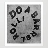 starfox Art Prints featuring STARFOX - DO A BARREL ROLL! by John Medbury (LAZY J Studios)