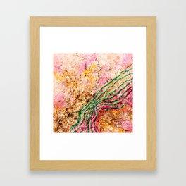 Heart borders Framed Art Print