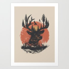 Look Deep Into Nature Art Print