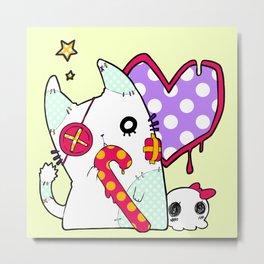 Ghost cat (color) Metal Print