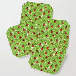 Ladybugs and Leaves Coaster