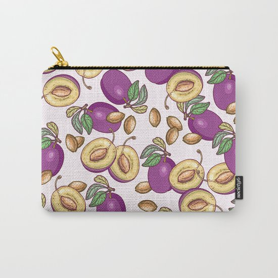 Romantic plum pattern Carry-All Pouch