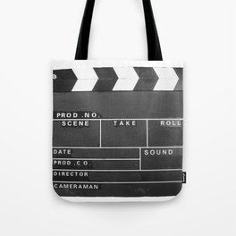 Film Movie Video production Clapper board Tote Bag