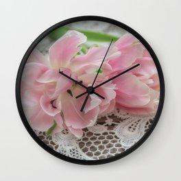 Ruffed Petals Wall Clock