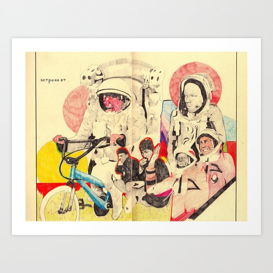 spacemen Art Print