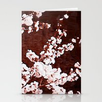cherry blossoms Stationery Cards featuring Cherry Blossoms by Paula Belle Flores