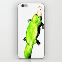 platypus iPhone & iPod Skins featuring Green Platypus by Tesseract