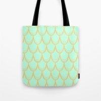 mermaid Tote Bags featuring Mermaid  by Aneela Rashid