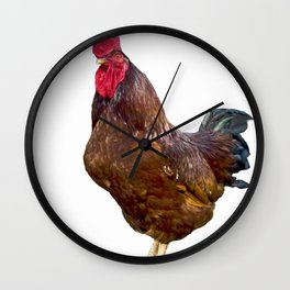 Carl the Rooster Wall Clock