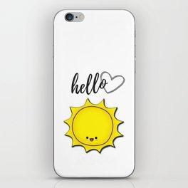 Hello Sunshine Positivity Art iPhone Skin