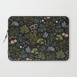 Herbarium ~ vintage inspired botanical art print ~ black Laptop Sleeve