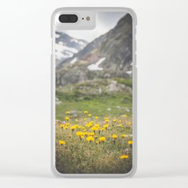 beautiful wild flowers Clear iPhone Case
