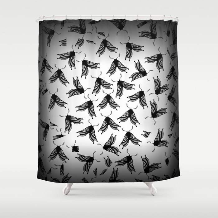 Moth swarm Shower Curtain
