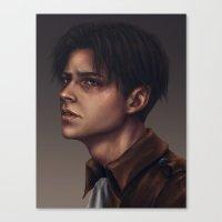 levi Canvas Prints featuring Levi Ackerman by trixdraws