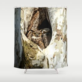 Momma my great protector Shower Curtain