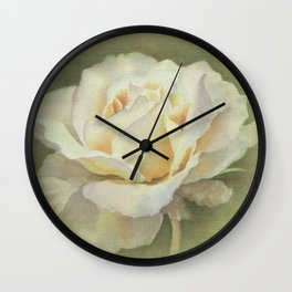 Vicorian Roses Neck Gator Single White Rose Wall Clock