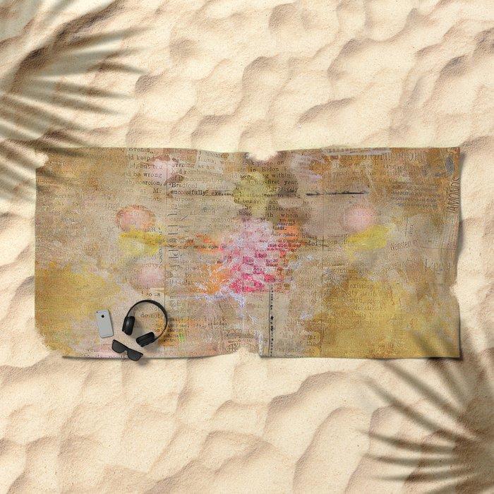 the juggler Beach Towel