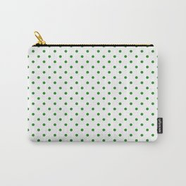 Dots (Forest Green/White) Carry-All Pouch