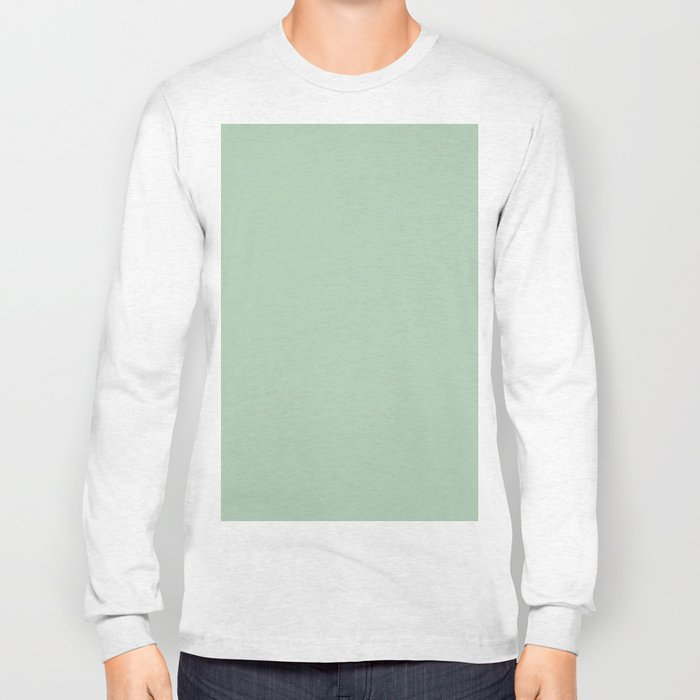 Simply Pastel Cactus Green Long Sleeve T-shirt