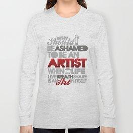 I am Artist (Black) Long Sleeve T-shirt