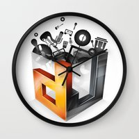 dj Wall Clocks featuring DJ by DeanDesign