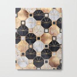 Art Deco Octagons Metal Print