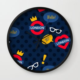 Crazy London Pattern Wall Clock