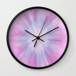 Pink Star Kaleidoscope Wall Clock