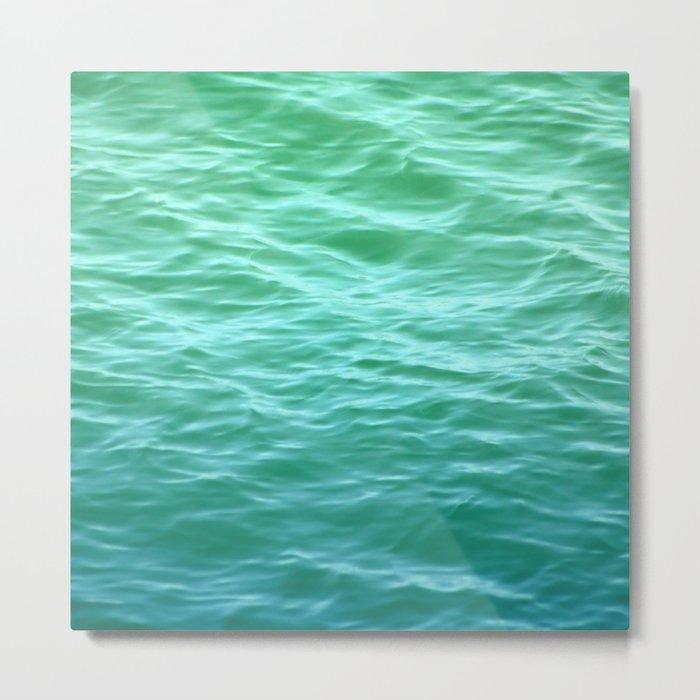 Teal Sea Metal Print