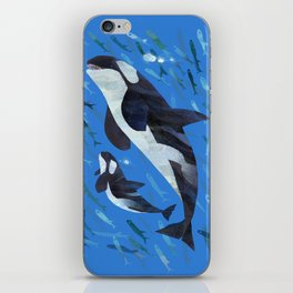 Killer Whale and Baby iPhone Skin