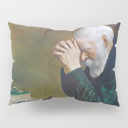 Eric Enstrom Grace Man Praying Over Bread Pillow Sham