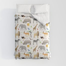 Safari Savanna Multiple Animals Comforters