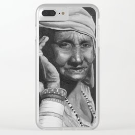 Golden Day - B&W Clear iPhone Case