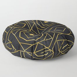 Chic Art Deco: Sophisticated Flirtation While Sipping Cognac Floor Pillow
