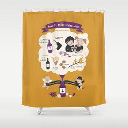 How To Make Divine Wine Shower Curtain