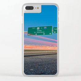 Highway to Light Clear iPhone Case