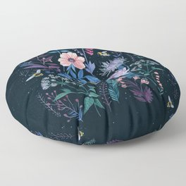 Bees Garden Floor Pillow