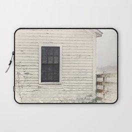 Old Window, vintage farm house Sonoma County Photography, Whitewashed - Old Fence  Laptop Sleeve