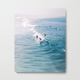 Catch A Wave Metal Print