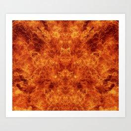 Fire - Flames - Orange - Texture Art Print
