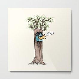 Rude Bird Metal Print