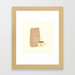 House Blend Coffee Framed Art Print