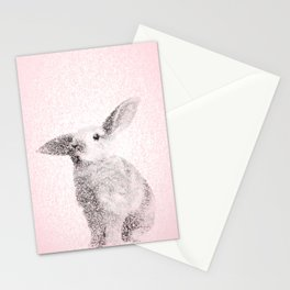 Bunny Print - Mosaic Nursery Decor, Baby Animal Wall Art Poster Stationery Cards