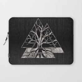 Valknut Symbol and Tree of life  -Yggdrasil Laptop Sleeve
