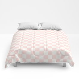 Pink Coral Checkers Comforters