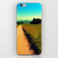 hiking iPhone & iPod Skins featuring Hiking on a hot afternoon by Patrick Jobst